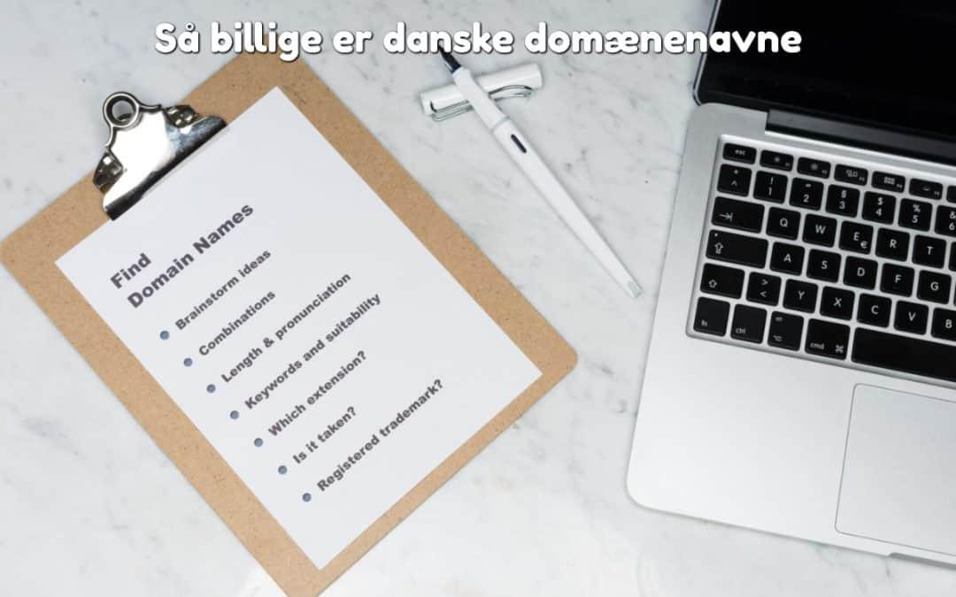 Så billige er danske domænenavne